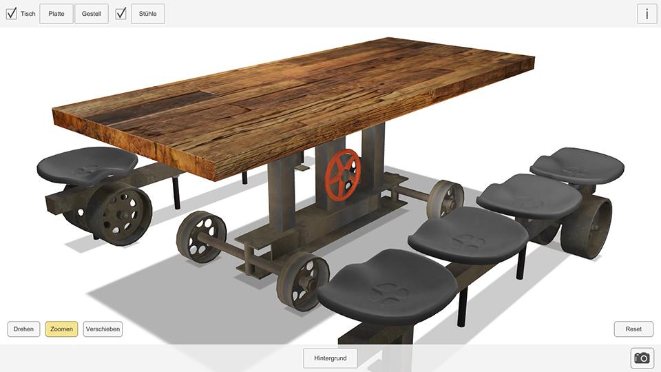 Tischkonfigurator Mit Ar Für Mobile Desktop Und Web Baur 30