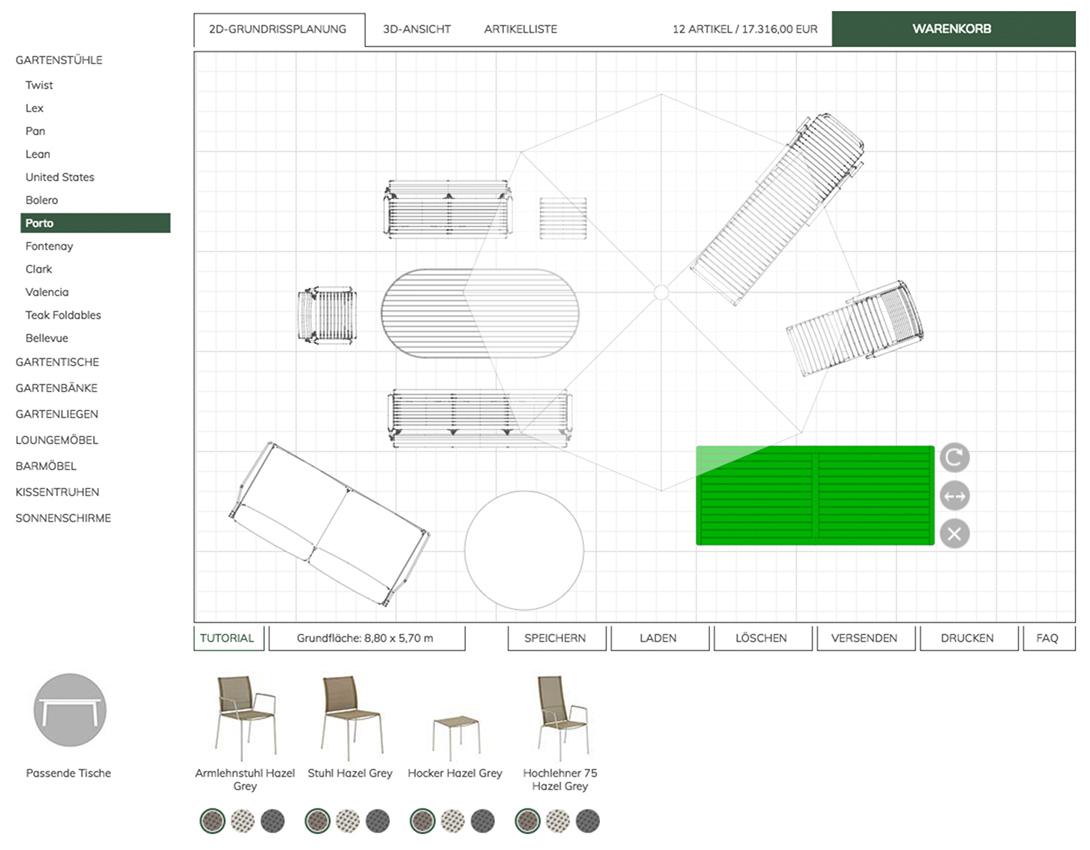 Garpa Gartenmöbel Planungsprogramm Baur 30 Service Gmbh