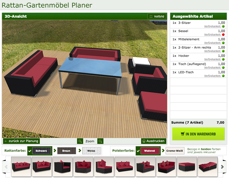 Gartenmöbelde Rattan Planungsprogramm Baur 30 Service Gmbh